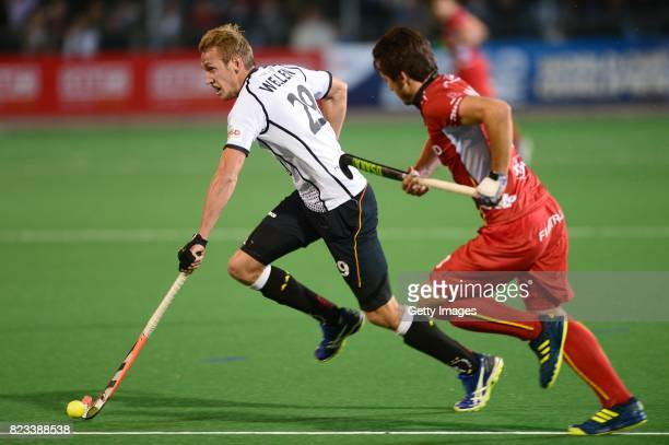Niklas Wellen of Germany during day 9 of the FIH Hockey World League Men's Semi Finals final match between Belgium and Germany at Wits University on...