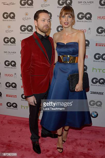 Niklas Worgt alias Dapayk and Eva Padberg arrives at the GQ Men of the Year Award at Komische Oper on November 7 2013 in Berlin Germany