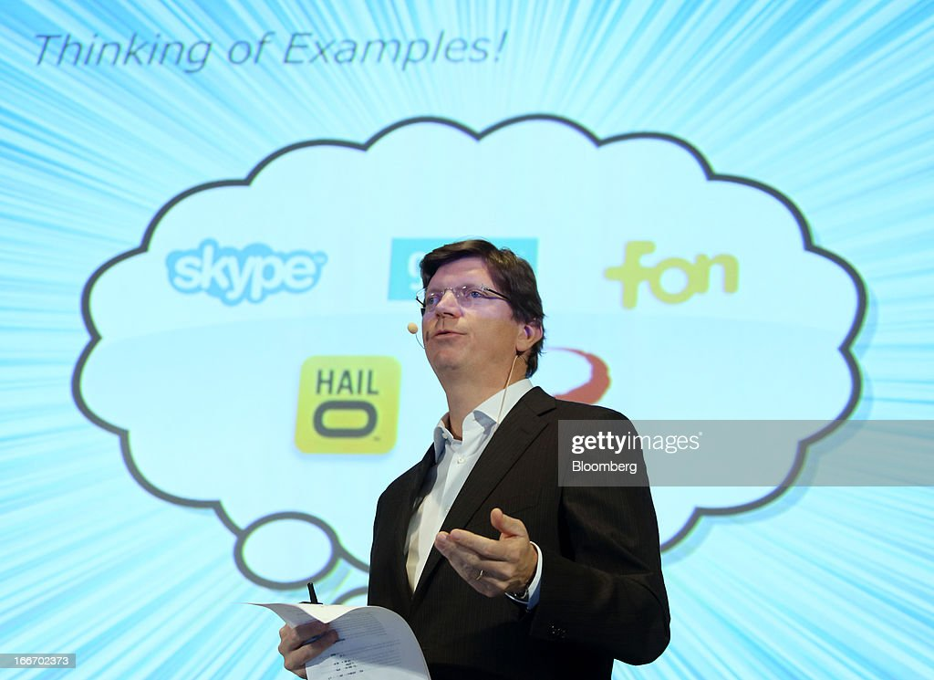 Niklas Zennstrom, co-founder of Skype Technologies SA, speaks at the New Economy Summit 2013 hosted by the Japan Association of New Economy (JANE) in Tokyo, Japan, on Tuesday, April 16, 2013. Rakuten Inc. Chairman Hiroshi Mikitani set up the JANE in June after quitting the main business lobby Nippon Keidanren in protest over the group's support for nuclear power. Photographer: Tomohiro Ohsumi/Bloomberg via Getty Images