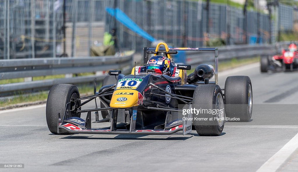 Niko Kari (FIN) of Team Motopark finishes second place and on his way to the parc ferme after the FIA Formula 3 European Championship race at the Norisring during Day 2 of the 74. International ADAC Norisring Speedweekend on June 25, 2016 in Nuremberg, Germany.