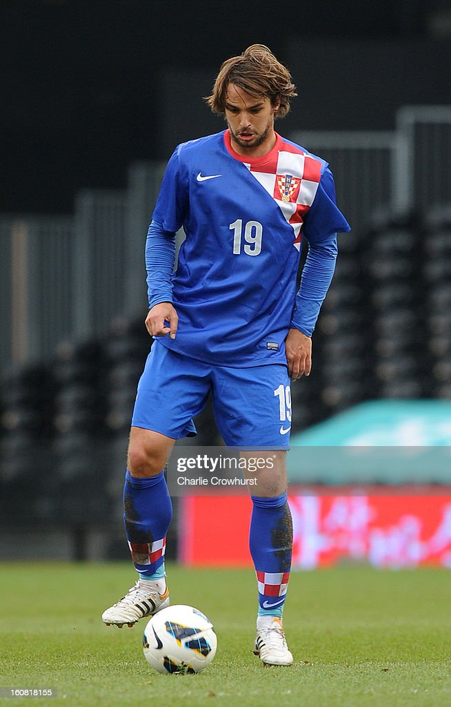 <a gi-track='captionPersonalityLinkClicked' href=/galleries/search?phrase=Niko+Kranjcar&family=editorial&specificpeople=547244 ng-click='$event.stopPropagation()'>Niko Kranjcar</a> of Croatia during the International Friendly match between Croatia and Korea Republic at Craven Cottage on February 6, 2013 in London, England.