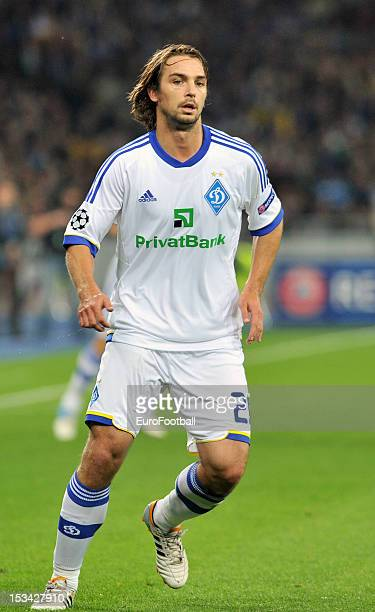 Niko Kranjcar of FC Dynamo Kyiv in action during the UEFA Champions League group stage match between FC Dynamo Kyiv and GNK Dinamo Zagreb at the...