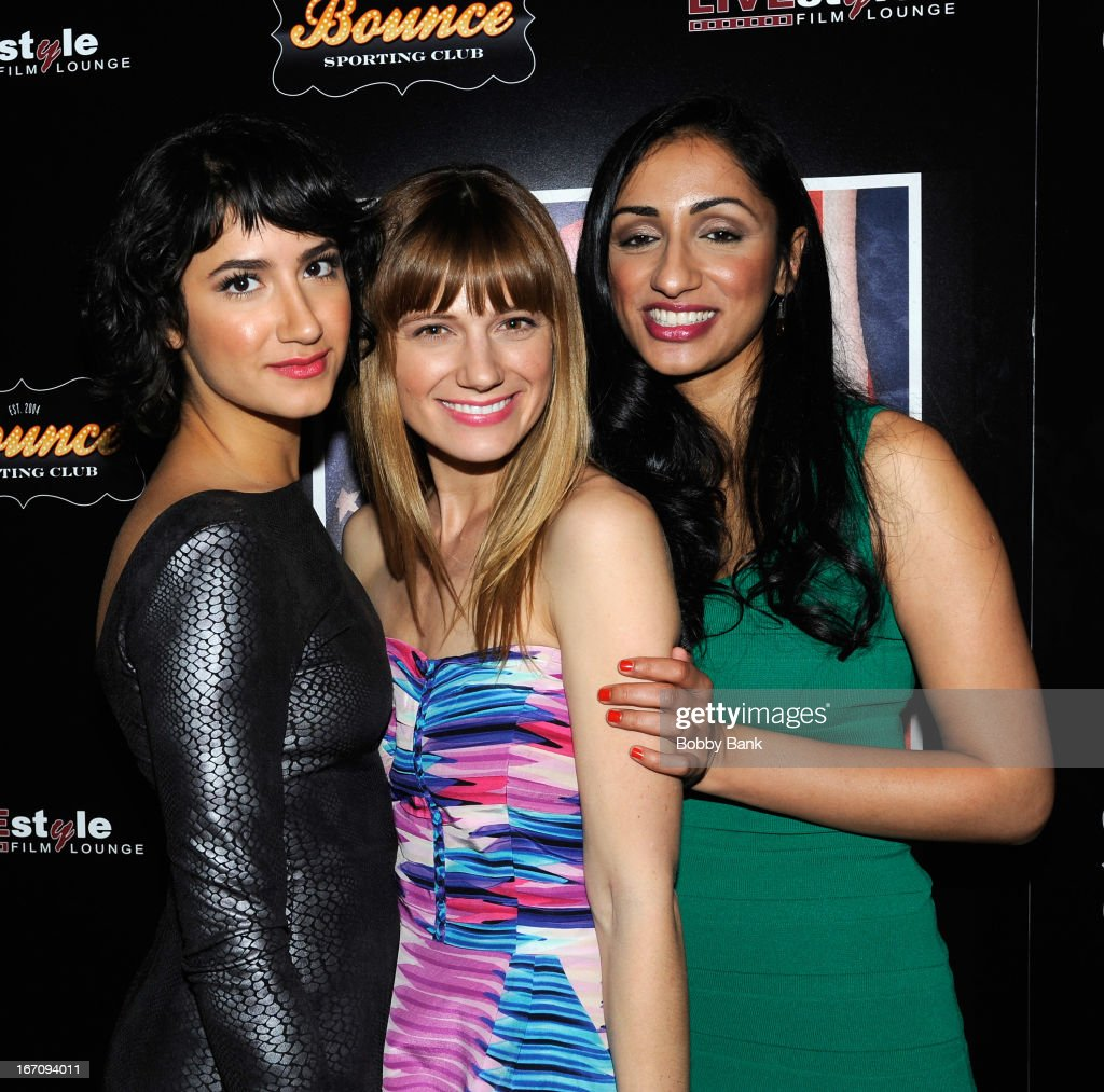 Nikohl Boosheri, Kandis Erickson and Kiran Deol attends the 'Farah Goes Bang' after party during the 2013 Tribeca Film Festival at Bounce Sporting Club on April 19, 2013 in New York City.