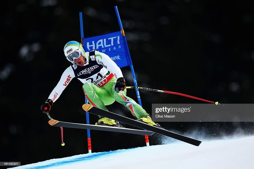 Nikola Chongarov of Bulgaria skis in the Men's Super Combined during the Alpine FIS Ski World Championships on February 11, 2013 in Schladming, Austria.