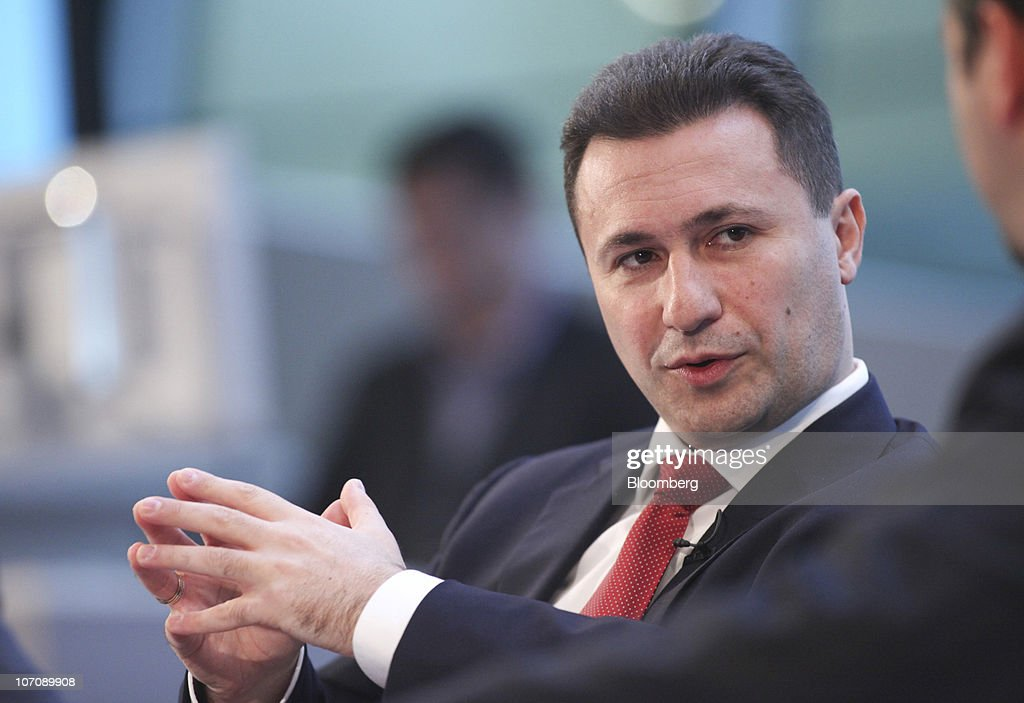 <a gi-track='captionPersonalityLinkClicked' href=/galleries/search?phrase=Nikola+Gruevski&family=editorial&specificpeople=567539 ng-click='$event.stopPropagation()'>Nikola Gruevski</a>, Macedonia's prime minister, speaks during the 10th Bloomberg BusinessWeek European Leadership Forum, in London, U.K., on Tuesday, Nov. 23, 2010. The one day conference brings together key speakers from Government, Finance and International companies at City Hall, in London. Photographer: Chris Ratcliffe/Bloomberg via Getty Images