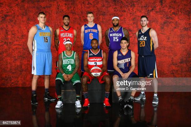 Nikola Jokic of the Denver Nuggets Anthony Davis of the New Orleans PelicansKristaps Porzingis of the New York KnicksDeMarcus Cousins of the...