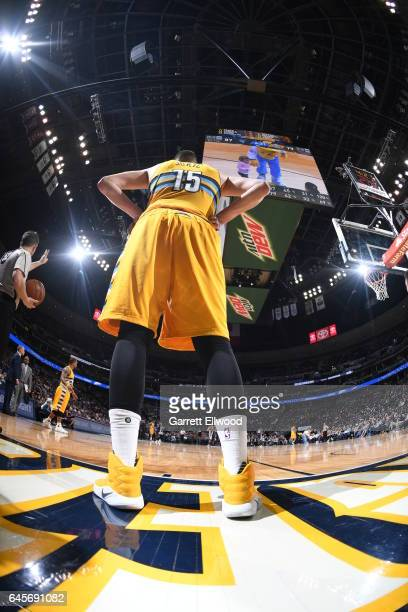 Nikola Jokic of the Denver Nuggets is seen during the game against the Milwaukee Bucks on February 26 2017 at the Pepsi Center in Denver Colorado...