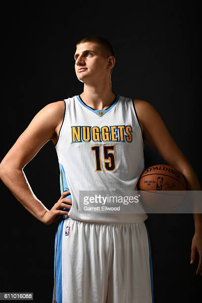 Nikola Jokic of the Denver Nuggets poses for a portrait during media day on September 26 2016 at the Pepsi Center in Denver Colorado NOTE TO USER...