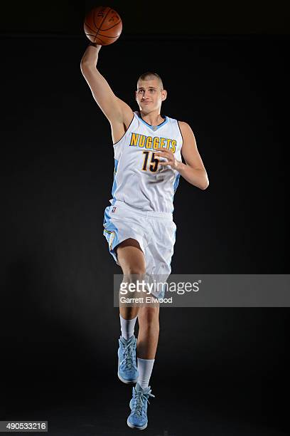 Nikola Jokic of the Denver Nuggets poses for a portrait on September 28 2015 at the Pepsi Center in Denver Colorado NOTE TO USER User expressly...