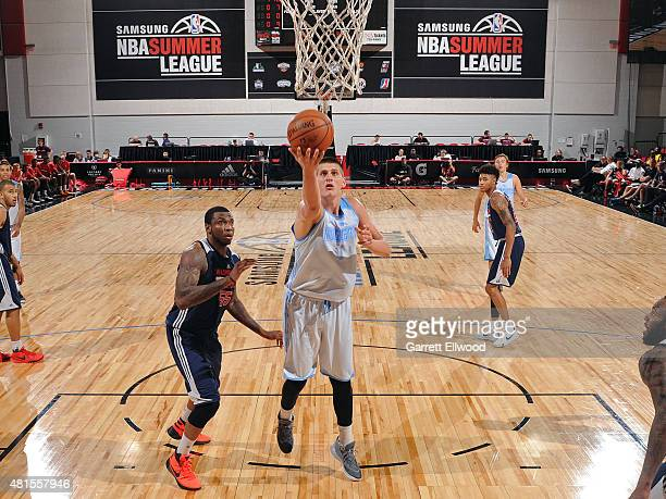 Nikola Jokic of the Denver Nuggets shoots the ball against the Washington Wizards on July 17 2015 at Cox Pavilion in Las Vegas Nevada NOTE TO USER...
