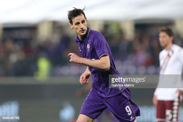 Nikola Kalinic of ACF Fiorentina in action during the Serie A match between ACF Fiorentina and FC Torino at Stadio Artemio Franchi on February 27...