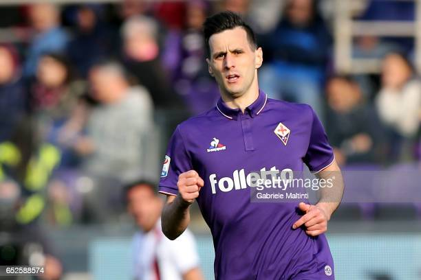 Nikola Kalinic of ACF Fiorentina in action during the Serie A match between ACF Fiorentina and Cagliari Calcio at Stadio Artemio Franchi on March 12...