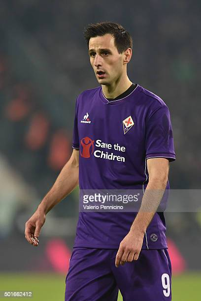 Nikola Kalinic of ACF Fiorentina looks on during the Serie A match betweeen Juventus FC and ACF Fiorentina at Juventus Arena on December 13 2015 in...