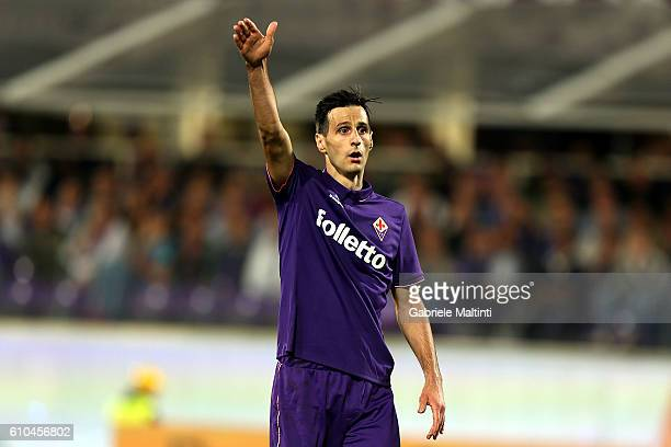 Nikola Kalinic of ACF Fiorentina reacts during the Serie A match between ACF Fiorentina and AC Milan at Stadio Artemio Franchi on September 25 2016...