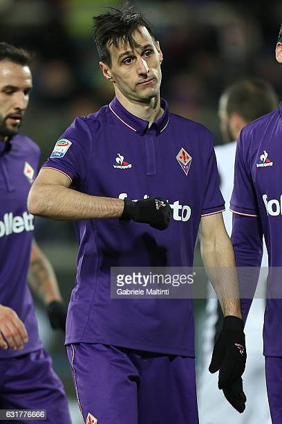 Nikola Kalinic of ACF Fiorentina reacts during the Serie A match between ACF Fiorentina and Juventus FC at Stadio Artemio Franchi on January 15 2017...