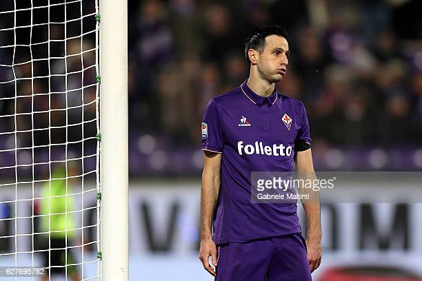 Nikola Kalinic of ACF Fiorentina shows his dejection during the Serie A match between ACF Fiorentina and US Citta di Palermo at Stadio Artemio...