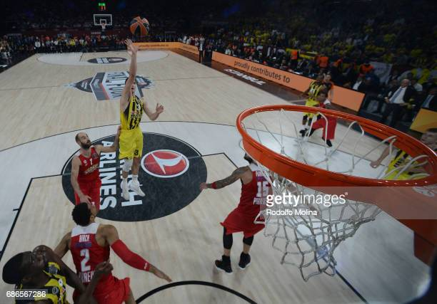 Nikola KalinicÊ#33 of Fenerbahce Istanbul in action during the Championship Game 2017 Turkish Airlines EuroLeague Final Four between Fenerbahce...