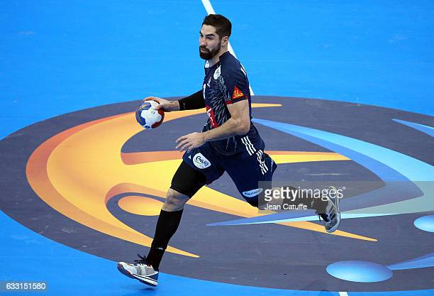 Nikola Karabatic of France in action during the 25th IHF Men's World Championship 2017 Final between France and Norway at Accorhotels Arena on...