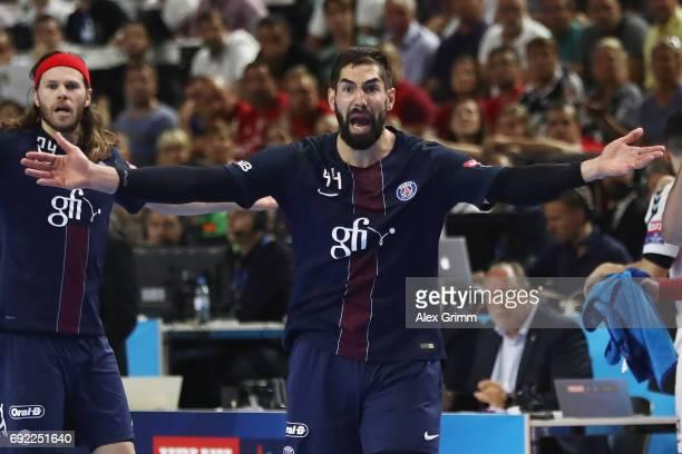 Nikola Karabatic of Paris reacts during the VELUX EHF FINAL4 final between Paris SaintGermain Handball and HC Vardar at Lanxess Arena on June 4 2017...