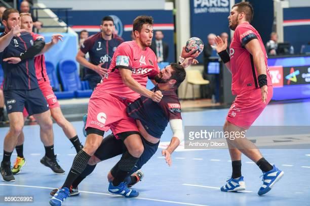 Nikola Karabatic of PSG during the EHB Champions League match between Paris Saint Germain and Celje on October 8 2017 in Paris France