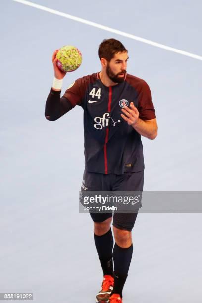 Nikola Karabatic of PSG during the Lidl Starligue match between Paris Saint Germain and Saint Raphael on October 5 2017 in Paris France