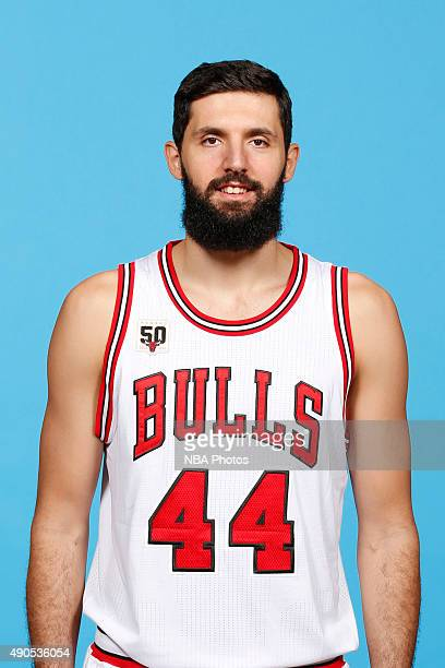 Nikola Mirotic of the Chicago Bulls poses for a portrait during Media Day on September 28 2015 at the Advocate Center in Chicago Illinois NOTE TO...