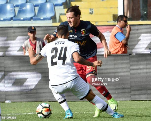 Nikola Ninkovic in action during the TIM Cup match between Genoa CFC and AC Cesena at Stadio Luigi Ferraris on August 13 2017 in Genoa Italy