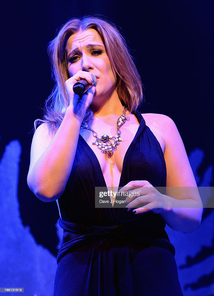 Nikola Rachelle performs onstage during The Global Angel Awards at the Roundhouse on November 15, 2013 in London, England.
