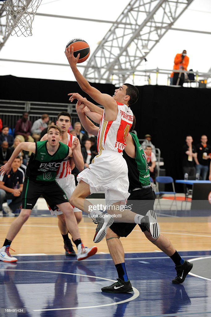 Nikola Rebic, #4 of Crvena Zvezda Telekom in action during the Nike International Junior Tournament game between Club Joventut Badalona v Crvena Zvezda Telekom at London Soccerdome on May 10, 2013 in London, United Kingdom.