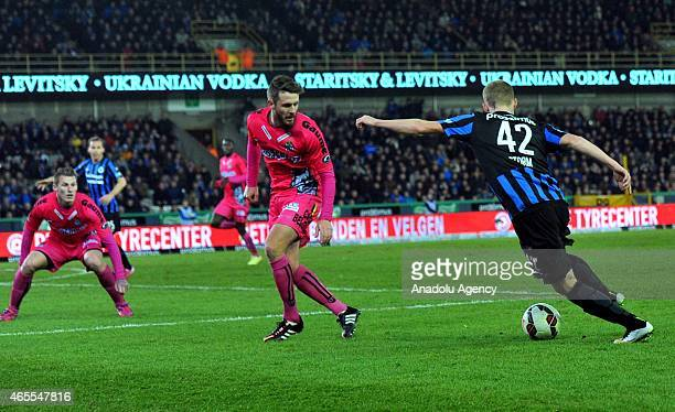 Nikola Storm of Club Brugge in action during Jupiler Pro League Club Brugge and Charleroi match in Brussels Belgium on March 7 2015