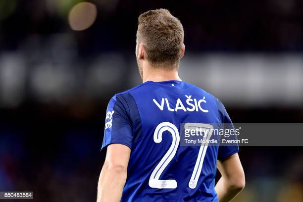 Nikola Vlasic of Everton during the Carabao Cup Third Round match between Everton and Sunderland at Goodison Park on September 20 2017 in Liverpool...