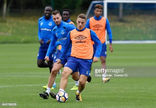 Nikola Vlasic of Everton during the Everton FC training session at USM Finch Farm on September 7 2017 in Halewood England