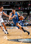 Nikola Vucevic of the Orlando Magic drives against the Dallas Mavericks on March 1 2016 at the American Airlines Center in Dallas Texas NOTE TO USER...