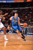 Nikola Vucevic of the Orlando Magic drives to the basket against of the Philadelphia 76ers at the Wells Fargo Center on February 26 2014 in...