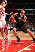 Nikola Vucevic of the Orlando Magic drives to the basket against the Chicago Bulls on January 12 2015 at the United Center in Chicago Illinois NOTE...