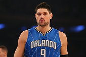 Nikola Vucevic of the Orlando Magic in action against the New York Knicks at Madison Square Garden on February 26 2016 in New York City NOTE TO USER...