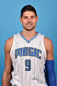 Nikola Vucevic of the Orlando Magic poses for a headshot during NBA Media Day on September 25 2015 at Amway Center in Orlando Florida NOTE TO USER...