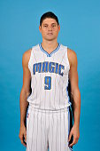 Nikola Vucevic of the Orlando Magic poses for a photo during Orlando Media Day on September 29 2014 at Amway Center in Orlando Florida NOTE TO USER...