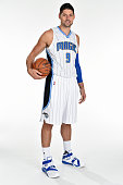 Nikola Vucevic of the Orlando Magic poses for a portrait during NBA Media Day on September 25 2015 at Amway Center in Orlando Florida NOTE TO USER...