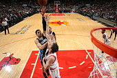 Nikola Vucevic of the Orlando Magic shoots against the Chicago Bulls on January 12 2015 at the United Center in Chicago Illinois NOTE TO USER User...