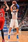 Nikola Vucevic of the Orlando Magic shoots against the New Orleans Pelicans on February 20 2015 at Amway Center in Orlando Florida NOTE TO USER User...