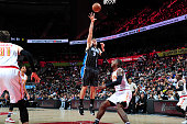 Nikola Vucevic of the Orlando Magic shoots the ball against the Atlanta Hawks on February 8 2016 at Philips Arena in Atlanta Georgia NOTE TO USER...