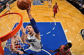 Nikola Vucevic of the Orlando Magic shoots the ball against the Chicago Bulls on March 2 2016 at Amway Center in Orlando Florida NOTE TO USER User...