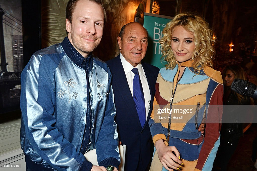 Nikolai Foster, Arnold Crook and <a gi-track='captionPersonalityLinkClicked' href=/galleries/search?phrase=Pixie+Lott&family=editorial&specificpeople=5591168 ng-click='$event.stopPropagation()'>Pixie Lott</a> pose at the press launch for the West End production of 'Breakfast At Tiffany's' at The Haymarket Hotel on May 4, 2016 in London, England.