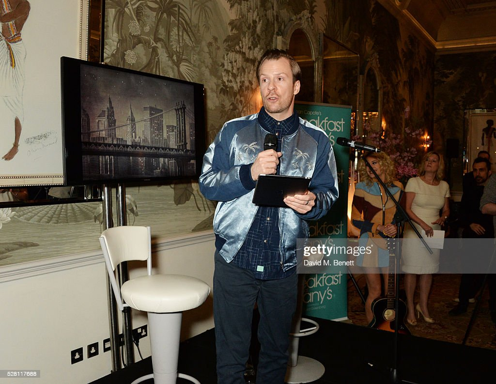 Nikolai Foster speaks at the press launch for the West End production of 'Breakfast At Tiffany's' at The Haymarket Hotel on May 4, 2016 in London, England.