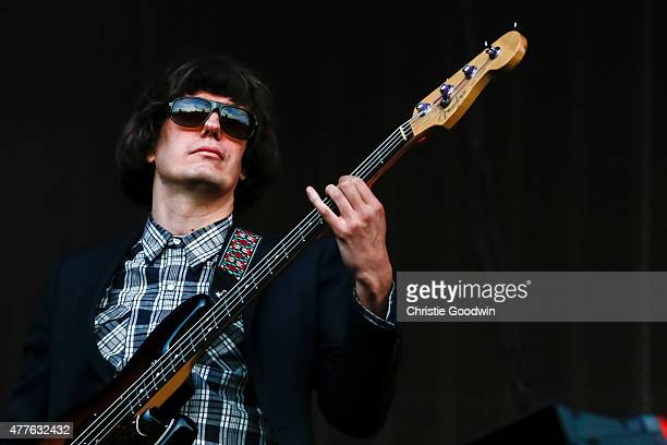 Nikolai Fraiture of The Strokes performs on stage on day 1 of British Summer Time at Hyde Park on June 18 2015 in London United Kingdom