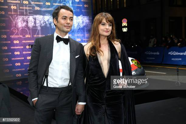 Nikolai Kinski and girlfriend Ina Paule Klink arrives for the GQ Men of the year Award 2017 at Komische Oper on November 9 2017 in Berlin Germany