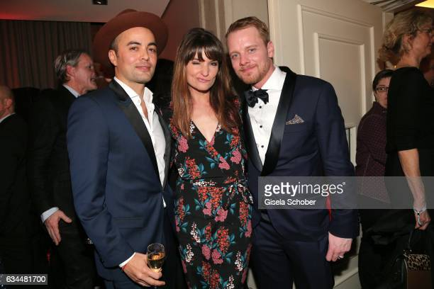 Nikolai Kinski and his girlfriend Ina Paule Klink and Stefan Konarske during the Berlin Opening Night by GALA and UFA Fiction at hotel 'The Stue' on...