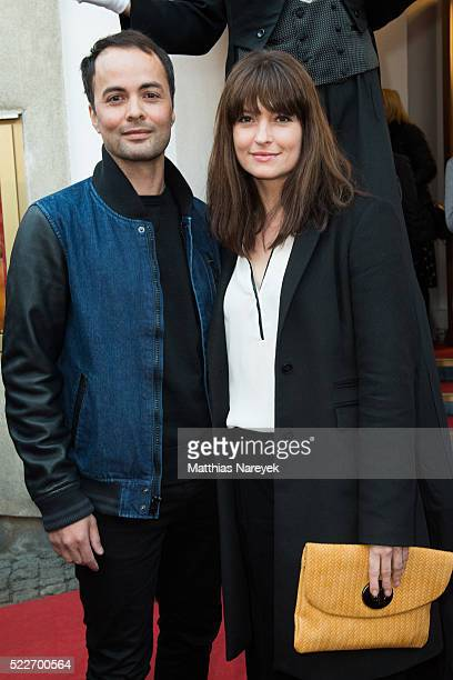 Nikolai Kinski and Ina Paule Klink attend the Berlin photo call of the movie 'Monsieur Chocolat' on April 20 2016 in Berlin Germany