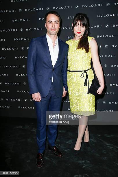 Nikolai Kinski and Ina Paule Klink attend the Bulgari Diva Cinema Night on February 10 2015 in Berlin Germany